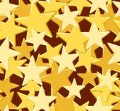 Reticolo senza cuciture con le stelle dorate. Immagine Stock