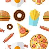 Reticolo senza cuciture degli alimenti industriali Illustrazione di vettore royalty illustrazione gratis