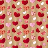 Reticolo senza cuciture del giorno dell'annata di Valentin rosso di amore Fotografia Stock