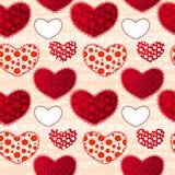 Reticolo senza cuciture del giorno di Valentin rosso e rosa di amore Fotografia Stock