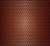 Reticolo senza cuciture del tessuto dorato Immagine Stock