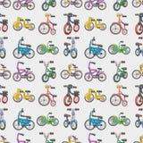 Reticolo senza cuciture della bicicletta illustrazione di stock