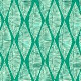 Reticolo senza cuciture delle foglie tribali verde smeraldo illustrazione vettoriale