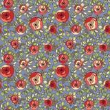 Reticolo senza cuciture delle rose multicolori dell'annata Fotografia Stock