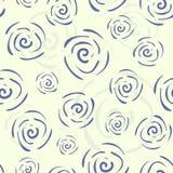 Reticolo senza cuciture di doodle di vettore con i fiori Fotografia Stock