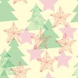 Reticolo senza cuciture di Natale & dell'nuovo anno Fotografia Stock