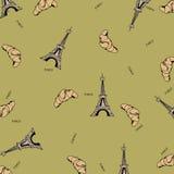 Reticolo senza cuciture di Parigi con la torre Eiffel Immagini Stock Libere da Diritti