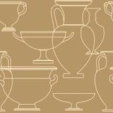 Reticolo senza cuciture di stile greco nazionale etnico ceramico Fotografie Stock Libere da Diritti