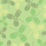 Reticolo senza cuciture di vettore con le foglie verdi Immagini Stock