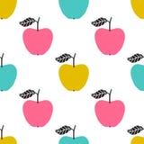 Reticolo senza cuciture di vettore con le mele Progettazione scandinava royalty illustrazione gratis