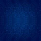 Reticolo senza cuciture floreale dell'annata sul blu Fotografia Stock