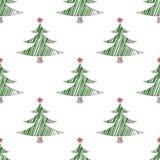 Reticolo senza cuciture per il Natale e l'nuovo anno abbozzo Disegno moderno Fotografia Stock Libera da Diritti