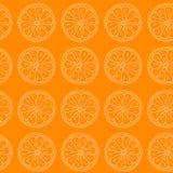 Reticolo senza giunte Agrumi su fondo arancio Illustrazione di Stock
