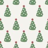 Reticolo senza giunte Albero di Natale Fotografia Stock