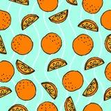 Reticolo senza giunte arancione royalty illustrazione gratis
