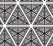 Reticolo senza giunte astratto in bianco e nero illustrazione di stock