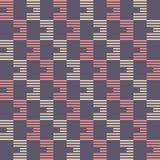 Reticolo senza giunte astratto struttura alla moda moderna Regolarmente ripetere le mattonelle geometriche a strisce illustrazione di stock