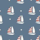 Reticolo senza giunte barca con cuore Fotografie Stock