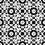 Reticolo senza giunte in bianco e nero Fotografia Stock
