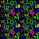 Reticolo senza giunte con amore Fondo in forma di cuore astratto Immagine Stock Libera da Diritti