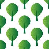 Reticolo senza giunte con gli alberi royalty illustrazione gratis