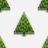 Reticolo senza giunte con gli alberi di Natale di carta Fotografie Stock Libere da Diritti