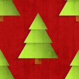 Reticolo senza giunte con gli alberi di Natale di carta Fotografia Stock Libera da Diritti