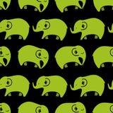 Reticolo senza giunte con gli elefanti Fotografie Stock Libere da Diritti