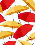 Reticolo senza giunte con gli ombrelli Immagine Stock Libera da Diritti