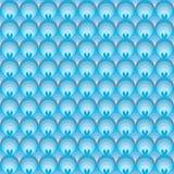 Reticolo senza giunte con i cerchi blu illustrazione di stock