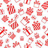 Reticolo senza giunte con i contenitori di regalo Immagine Stock Libera da Diritti