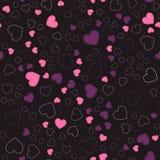 Reticolo senza giunte con i cuori Cuori rosa Reticolo romantico Immagine Stock