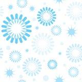 Reticolo senza giunte con i fiocchi di neve e le stelle illustrazione vettoriale