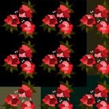 Reticolo senza giunte con i fiori Royalty Illustrazione gratis