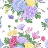 Reticolo senza giunte con i fiori Immagini Stock Libere da Diritti