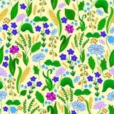 Reticolo senza giunte con i fiori Fotografia Stock