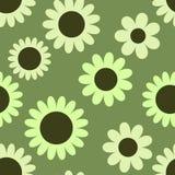 Reticolo senza giunte con i fiori Immagine Stock