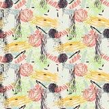 Reticolo senza giunte con i fiori astratti Fotografie Stock