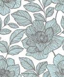 Reticolo senza giunte con i fiori astratti Progettazione di superficie floreale creativa Progettazione per tessuto, carta da para illustrazione vettoriale