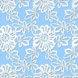 Reticolo senza giunte con i fiori bianchi Fotografia Stock Libera da Diritti
