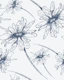 Reticolo senza giunte con i fiori disegnati a mano Immagine Stock