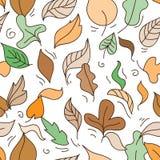 Reticolo senza giunte con i fogli di autunno Immagine Stock