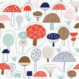 Reticolo senza giunte con i funghi Immagini Stock