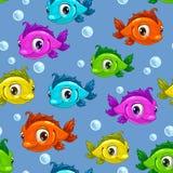 Reticolo senza giunte con i pesci Immagine Stock Libera da Diritti