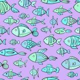 Reticolo senza giunte con i pesci royalty illustrazione gratis