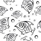 Reticolo senza giunte con i pesci astratti Fotografia Stock Libera da Diritti