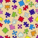 Reticolo senza giunte con i puzzle Fotografie Stock Libere da Diritti