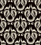 Reticolo senza giunte con i tulipani stilizzati Fotografia Stock