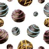 Reticolo senza giunte con il cioccolato Fotografie Stock
