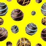 Reticolo senza giunte con il cioccolato Immagini Stock